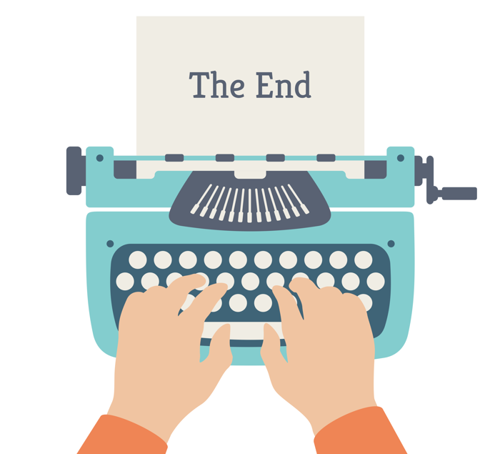 The-End-typewriter